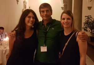 Sara and veronica with Prof. Giancarlo