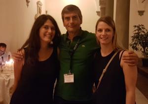 Sara and veronica with Prof. Giancarlo